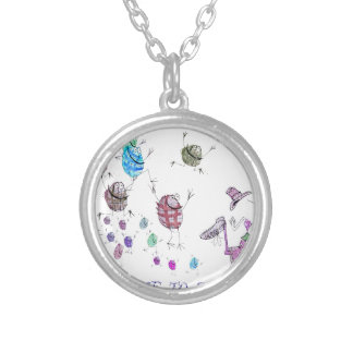 welcome to scotland silver plated necklace