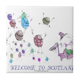 welcome to scotland tile