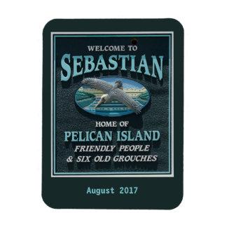 Welcome to Sebastian, FL Rectangular Photo Magnet
