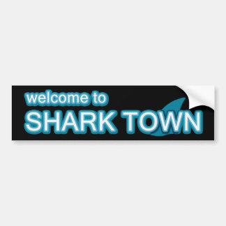 Welcome to Sharktown Bumper Sticker
