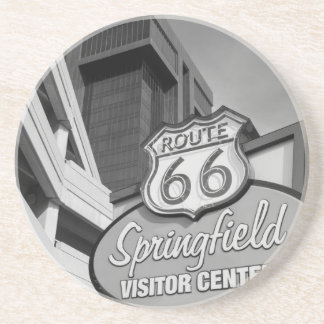 Welcome To Springfield Grayscale Coaster