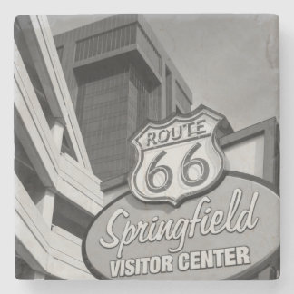 Welcome To Springfield Grayscale Stone Coaster