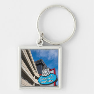 Welcome To Springfield MO Silver-Colored Square Keychain