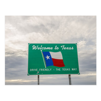 Welcome to Texas Sign - The Lone Star State Postcard