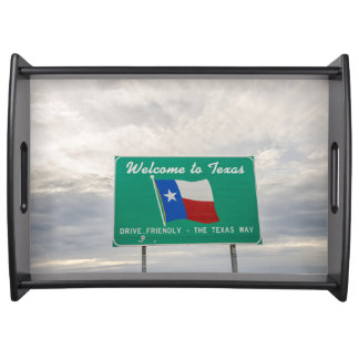 Welcome to Texas Sign - The Lone Star State Serving Tray
