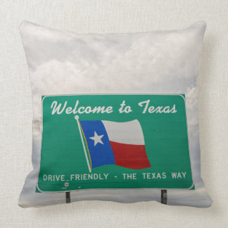 Welcome to Texas Sign - The Lone Star State Throw Pillow