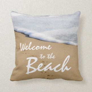 Welcome to the Beach and Ocean Pillow
