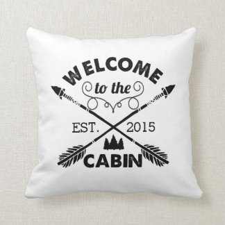 Welcome to the Cabin | Rustic Arrows Throw Pillow