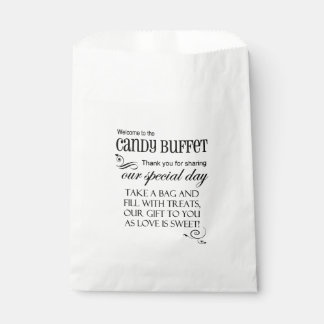 Welcome To The Candy Buffet Favor Bag