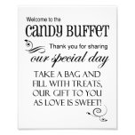 Welcome to the Candy Buffet Wedding Sign 8 x 10 Photograph