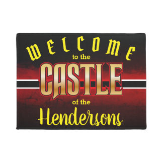 Welcome to the CASTLE of (Family Name - editable) Doormat
