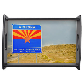 Welcome to the Grand Canyon State of Arizona Serving Tray