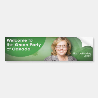Welcome to the Green Party of Canada Leader May Bumper Sticker