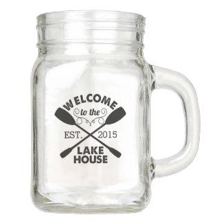 Welcome to the Lake House Mason Jar
