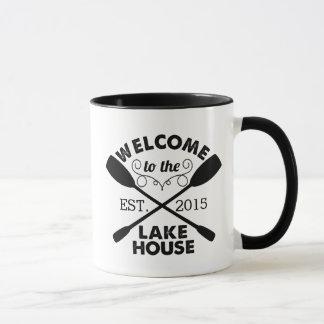 Welcome to the Lake House Rustic Paddles Mug
