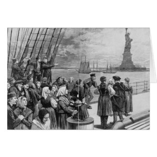 Welcome to the Land of Freedom from Ellis Island Card