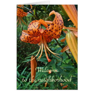 Welcome To The Neighborhood - Lily Greeting Card