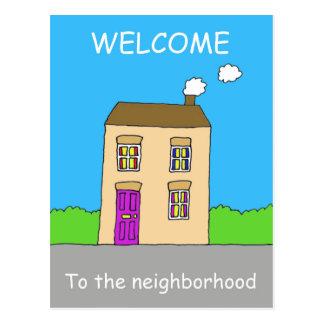 Welcome to the neighborhood. postcard