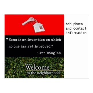 Welcome To The Neighborhood Red Black Green Postcard