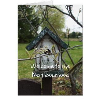 Welcome to the Neighbourhood-bird house Card