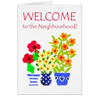 Welcome to the Neighbourhood Card - Flower Power