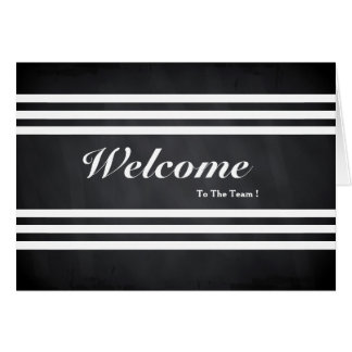 Welcome To The Team Chalkboard Stripes Postcard