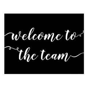 welcome to the team script postcard