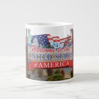 Welcome to the USA Giant Coffee Mug