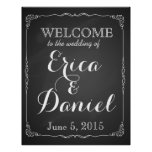 welcome to the wedding of print sign chalkboard