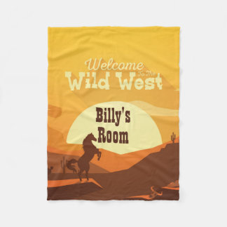 Welcome To The Wild West Personalized Fleece Blanket
