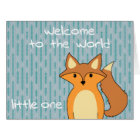 Welcome to the World - Little Fox Card