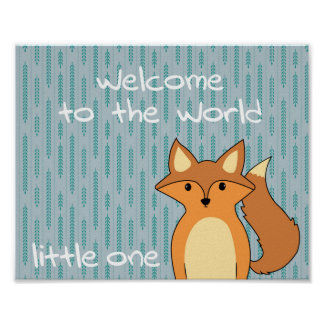 Welcome to the World - Little Fox Poster