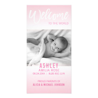 Welcome to the World New Baby Announcement | PHOTO Card