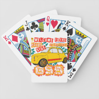 Welcome to the Wrong Side of the Track Bicycle Playing Cards