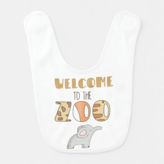 Welcome To The Zoo Baby Bib