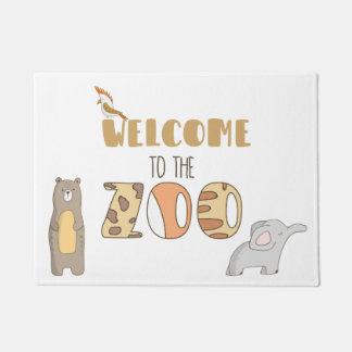 Welcome To The Zoo Door Mat