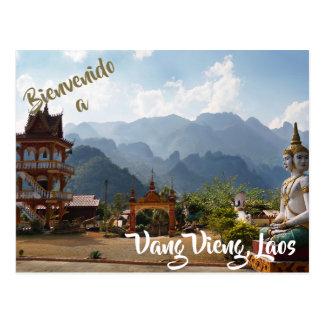 Welcome to Vang Vieng, Laos postcard