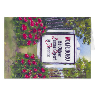 Welcome to Wolfeboro NH Sign Card