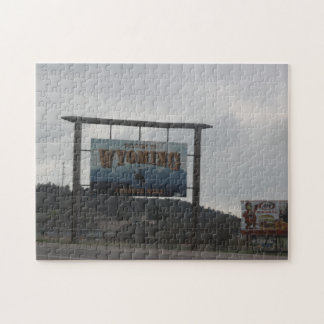 Welcome to Wyoming Jigsaw Puzzle