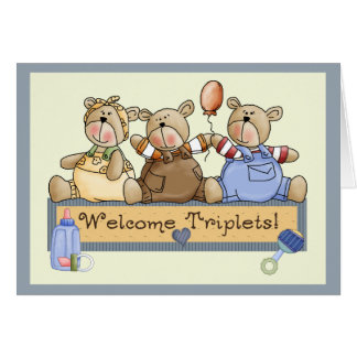Welcome Triplets Card