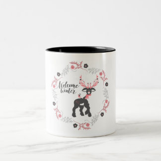 Welcome Winter Reindeer Mug