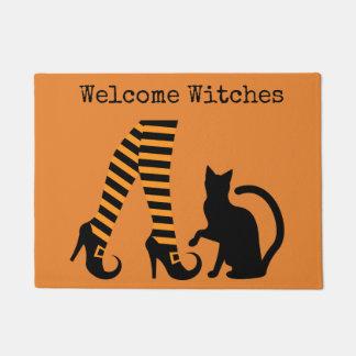 Welcome Witches Halloween Door Mat