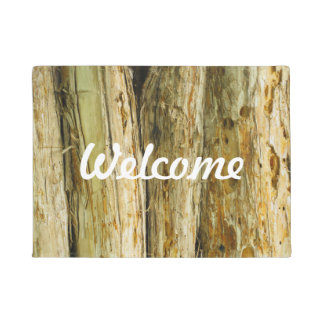 Welcome Wood Pattern Doormat