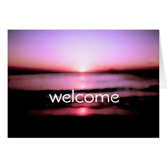 Welcome You All Beach Sunrise Wedding Card