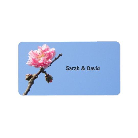 Welcoming Spring/Oriental Zen Wedding Favour Label