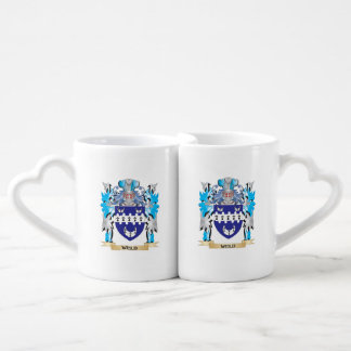 Weld Coat of Arms - Family Crest Couple Mugs