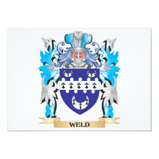 """Weld Coat of Arms - Family Crest 5"""" X 7"""" Invitation Card"""