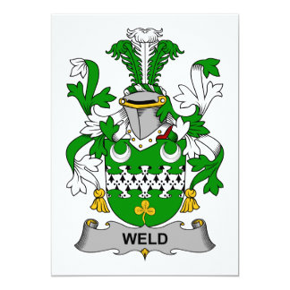 "Weld Family Crest 5"" X 7"" Invitation Card"