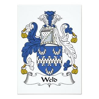 "Weld Family Crest 5"" X 7"" Invitation Card"