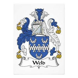 Weld Family Crest Custom Invitation